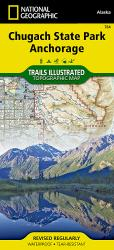 Chugach State Park and Anchorage, Alaska, Map 764 by National Geographic Maps