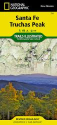 Santa Fe and Truchas Peak, NM, Map 731 by National Geographic Maps