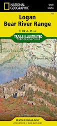 Logan Bear River Range, Map 713 by National Geographic Maps