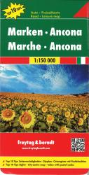 Marche and Ancona, Italy by Freytag-Berndt und Artaria
