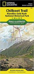 Chilkoot Trail and Klondike Gold Rush, Alaska, Map 254 by National Geographic Maps