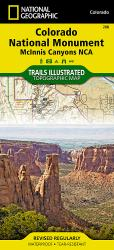 Colorado National Monument/McInnis Canyons, Map 208 by National Geographic Maps