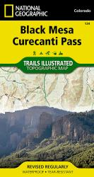 Black Mesa and Curecanti Pass, Colorado, Map 134 by National Geographic Maps
