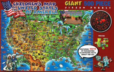 Dino's United States Puzzle by Dino Maps