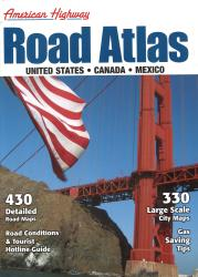 United States, Canada and Mexico Highway Road Atlas, large version by Mapping Specialists Ltd.