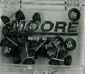 Large Map Push Pins, Black, Numbered 76-100 by Moore Push-Pin Co.