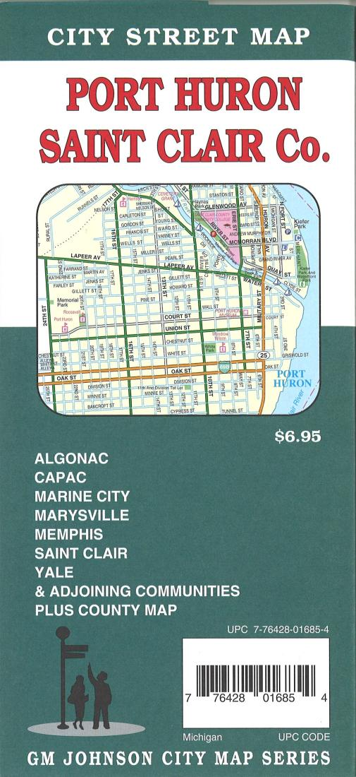 Marysville Michigan Map.Port Huron And Saint Clair County Michigan By Gm Johnson