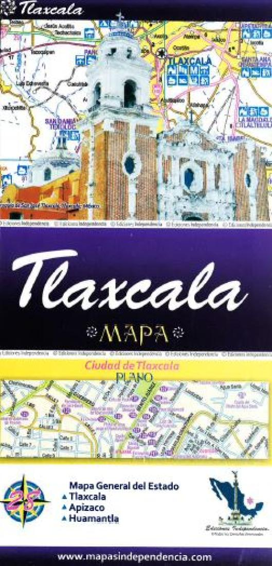 Tlaxcala Mexico State And Major Cities Map By Ediciones