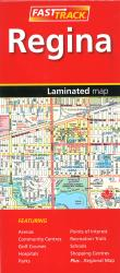 Regina Saskatchewan, Fast Track laminated map by Canadian Cartographics Corporation