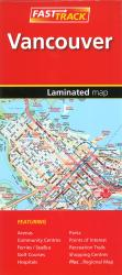 Vancouver, British Columbia Fast Track Laminated Map by Canadian Cartographics Corporation