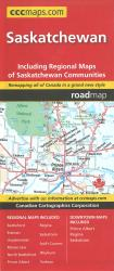 Saskatchewan Road Map by Canadian Cartographics Corporation