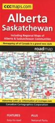 Alberta and Saskatchewan Road Map by Canadian Cartographics Corporation
