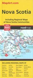 Nova Scotia Road Map by Canadian Cartographics Corporation