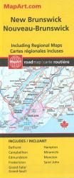 New Brunswick Road Map by Canadian Cartographics Corporation