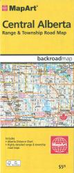 Central Alberta Range & Township Road Map by Canadian Cartographics Corporation