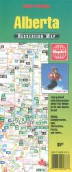 Alberta Recreation Map by Canadian Cartographics Corporation