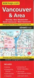Vancouver and Area Street Map by Canadian Cartographics Corporation