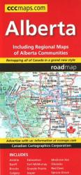 Alberta Road Map by Canadian Cartographics Corporation