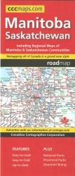 Manitoba and Saskatchewan Road Map by Canadian Cartographics Corporation