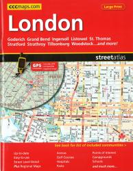 London, ON Street Atlas (Large Print) by Canadian Cartographics Corporation