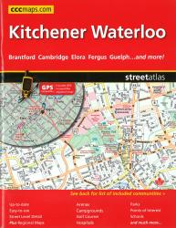 Kitchener and Waterloo, ON Street Atlas by Canadian Cartographics Corporation