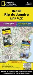 Brazil, Rio de Janeiro Map Pack Bundle by National Geographic Maps