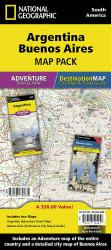 Argentina & Buenos Aires, Map Pack Bundle by National Geographic Maps