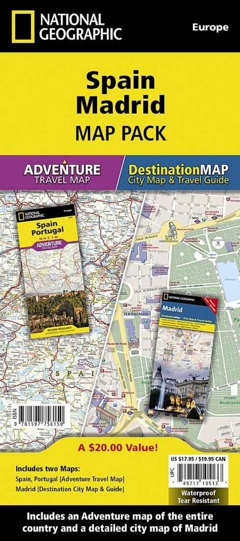 Spain & Madrid Map Pack Bundle by National Geographic Maps