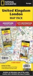 United Kingdom, London Map Pack Bundle by National Geographic Maps