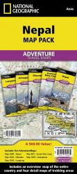Nepal Map Pack Bundle by National Geographic Maps