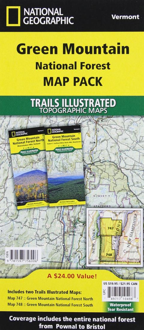 Green Mountains National Forest, Map Pack Bundle by National ...