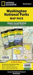 Washington National Parks Map Pack Bundle by National Geographic Maps