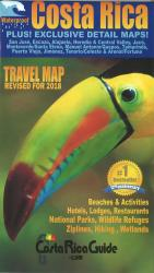 Costa Rica Travel Map by