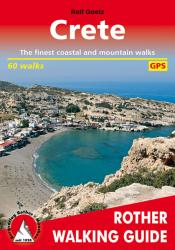 Crete, Walking Guide by Rother Walking Guide, Bergverlag Rudolf Rother