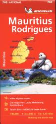 Mauritius Rodrigues Road and Tourist Map by Michelin Travel Partner