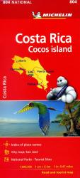 Costa Rica Map by Michelin Maps and Guides