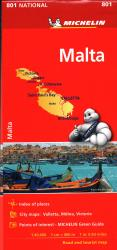 Malta Map by Michelin Maps and Guides