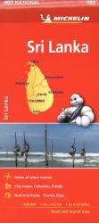 Sri Lanka Road & Tourist Map by Michelin Maps and Guides