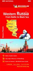 Western Russia Road and Tourist Map : From Baltic to Black Sea by Michelin Travel Partner