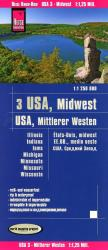 USA Midwest Road and Travel Map : Illinois, Indiana, Iowa, Michigan, Minnesota, Missouri, Wisconsin by Reise Know-How Verlag