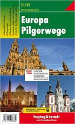 Europe Pilgrim Paths, Hiking Map (German edition) by Freytag-Berndt und Artaria