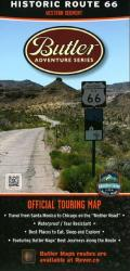 Route 66, West by Butler Motorcycle Maps