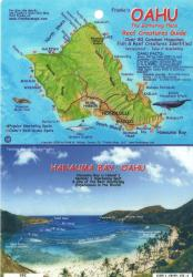 Oahu, The Gathering Place, Reef Creatures Guide by Frankos Maps Ltd.