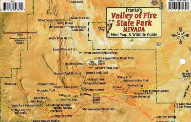 Valley of Fire State Park Nevada, Mini Map and Wildlife Card by Frankos Maps Ltd.