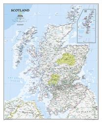 Scotland, Classic, Sleeved by National Geographic Maps