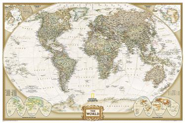 World, Executive, Poster-sized, Sleeved by National Geographic Maps