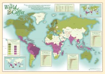 World of Coffee, Wall Map by Oxford Cartographers