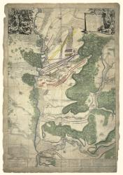 Map of the Battle of Blenheim, 13 August 1704 by Oxford Cartographers