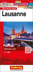 Lausanne 3 in 1 City Map by Hallwag