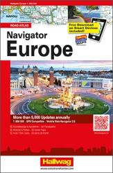 Navigator Europe Road Atlas by Hallwag